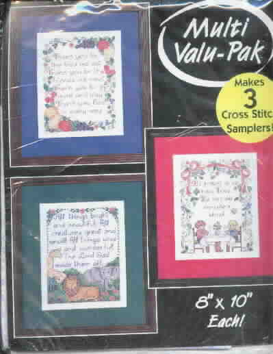 Bucilla Stamped Cross Stitch Kit, Sealed