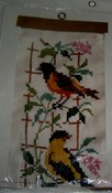 Columbia-Minerva Cross Stitch Song Birds Bell Pull Kit