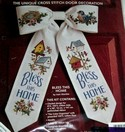 Bow Ties Cross Stitch Door Decoration Kit
