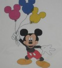 Mickey with Balloons Cross Stitch Kit