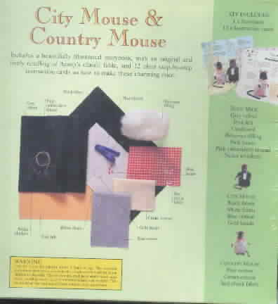 City Mouse Country Mouse Kit + Book SEALED