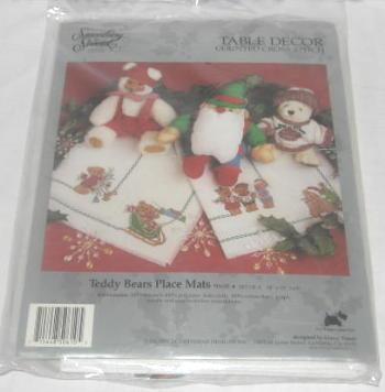 Teddy Bears Place Mats Kit Cross Stitch SEALED