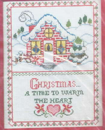 Bucilla Christmas Cross Stitch Sampler Kit SEALED