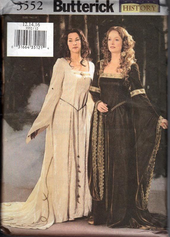 Butterick 3552 Medieval Dress Pattern UNCUT [3552] - $15.00 : The ...