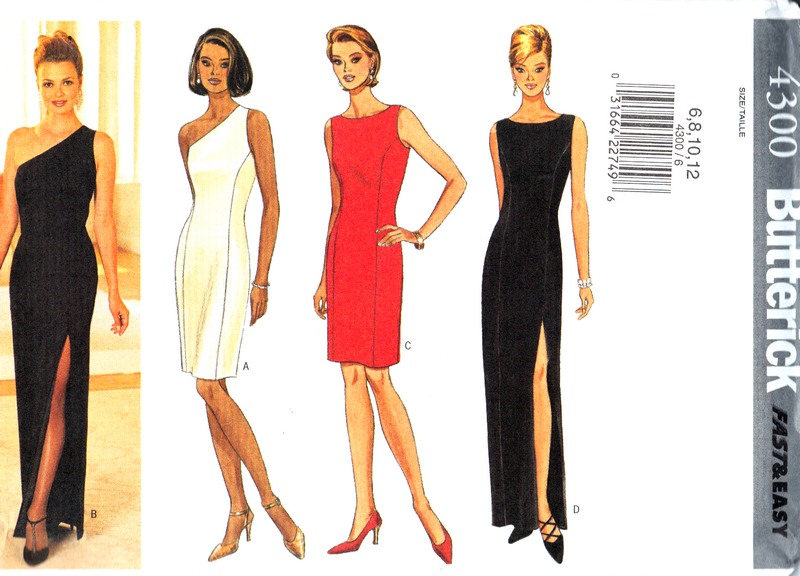 Butterick 4300 Evening Dress Sewing Pattern UNCUT [9910094300 ...