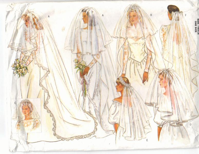 Butterick 4649 Wedding Veil Pattern Many Styles [94649] - $10.00 ...