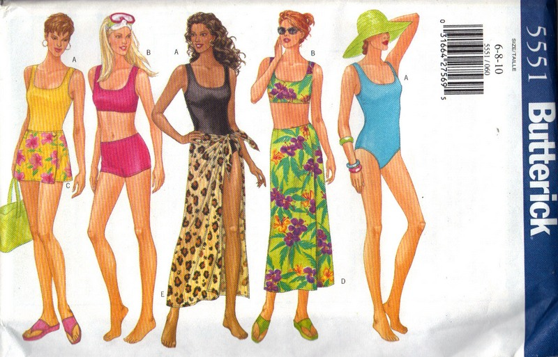 Butterick 5551 Swimsuit Sewing Pattern UNCUT [5551] - $10.00 : The ...