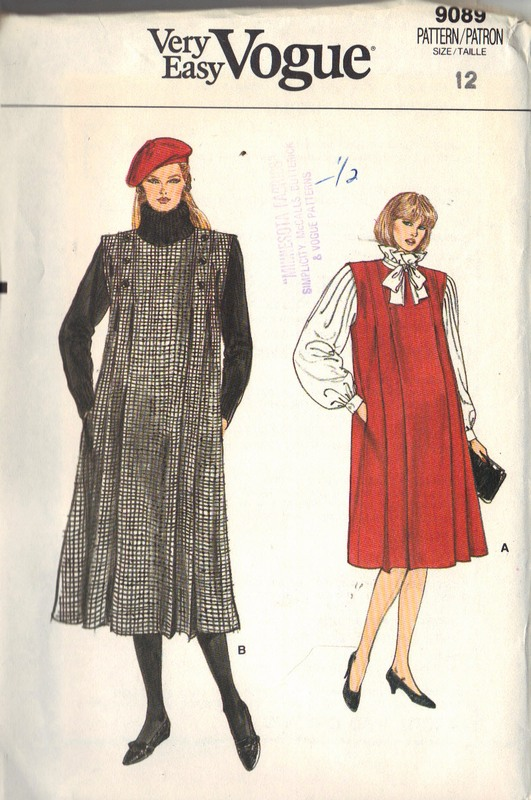 Vogue 9089 Maternity Jumper Pattern UNCUT - Click Image to Close