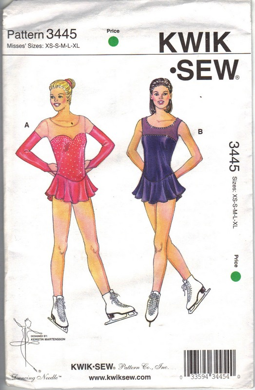 Kwik Sew 3445 Ice Skating Costume Pattern Uncut 3445 1500