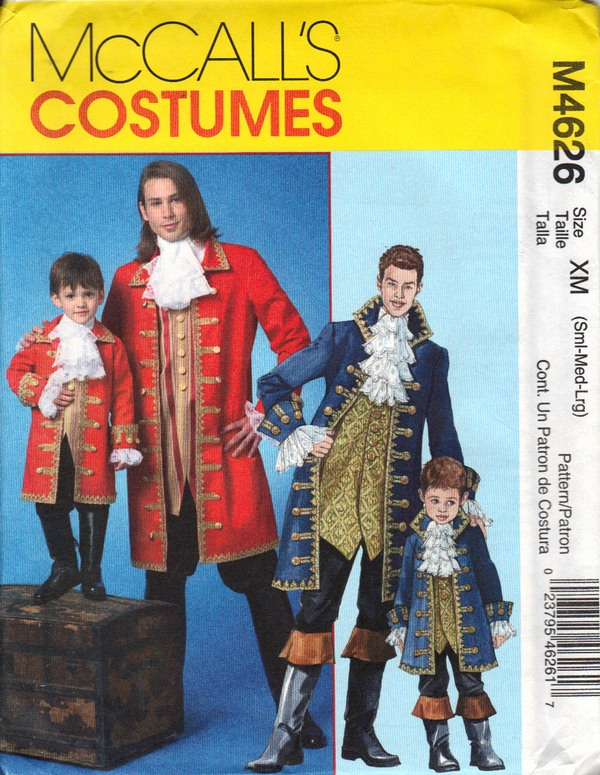 Mccalls 4626 Pirate Buccaneer Costume Pattern Uncut 4626 1500