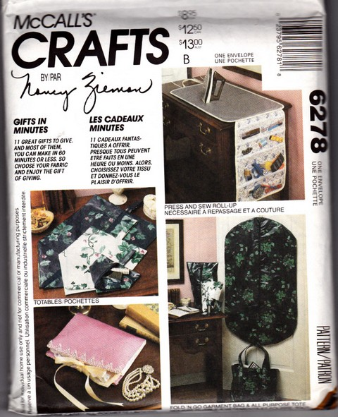 McCalls 6278 Nancy Zieman Gift Accessory Pattern UNCUT - Click Image to Close