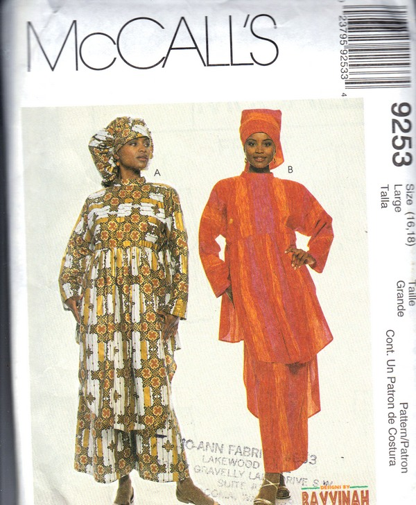 McCalls 9253 African Look Separates Sewing Pattern UNCUT [9910099253 ...
