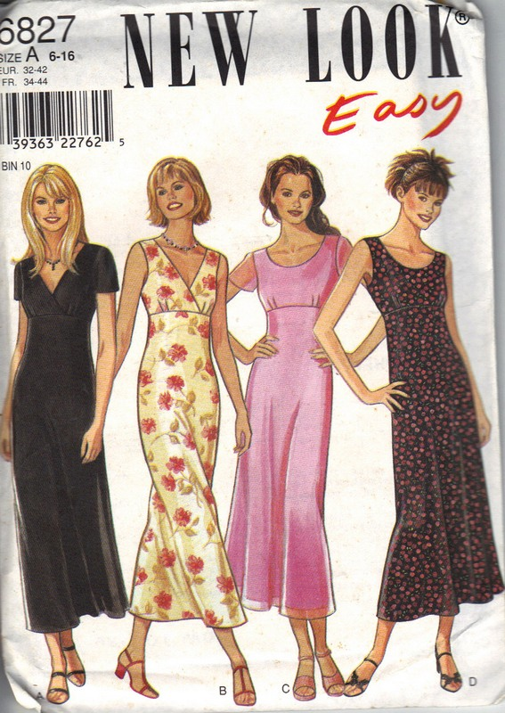 New Look 6827 Size A Easy Dress Pattern UNCUT [6827] - $7.50 : The ...