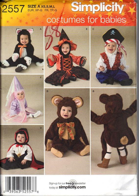 Simplicity 60 Size A Toddler Halloween Costume Pattern [60 Extraordinary Toddler Halloween Costume Patterns
