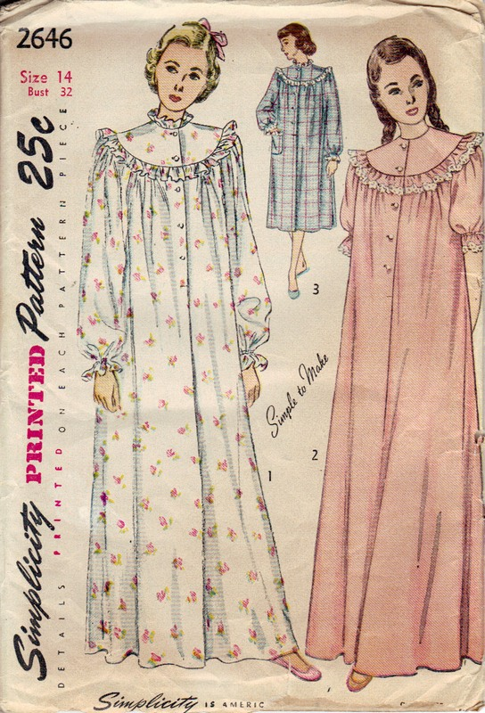 Old fashioned nightgown pattern 48