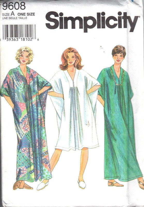 Simplicity 9608 Caftan Pattern UNCUT [9911019608] - $10.00 : The ...