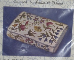 Louise A. Chrimes Floral Clutch Purse Crewel Kit