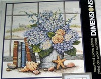 Dimensions Counted Cross Stitch, Hydrangeas & Shells NEW