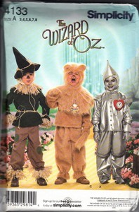 Simplicity 4133 Size A Wizard of Oz Costume Pattern UNCUT