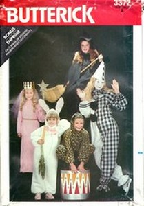 Butterick 3372 Children Halloween Costume Many Options UNCUT