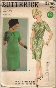 Butterick 3556 Vintage Sheath Dress Pattern UNCUT