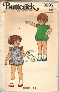 Butterick 3597 Size 1 Dress Bloomers Pattern UNCUT