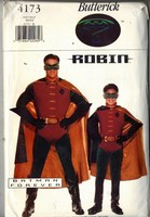 Butterick 4173 Boys Batman Forever ROBIN Costume Pattern UNCUT