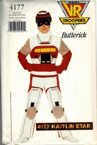 Butterick 4177 VR Troopers Kaitlin Star Costume Pattern UNCUT