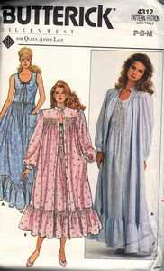 Butterick 4312 Eileen West Nightgown Robe Pattern