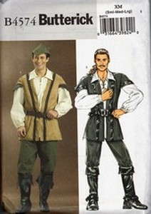 Butterick B4574 Robin Hood Costume Pattern NEW