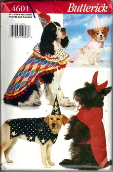 Butterick 4601 Dog Costume Pattern