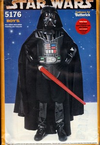 Butterick 5176 Boy's Darth Vader Costume Pattern UNCUT