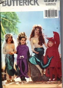 Butterick 5597 Girls Little Mermaid Costume Pattern UNCUT