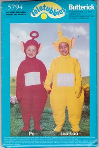 Butterick 5794 Teletubbies Sewing Pattern UNCUT