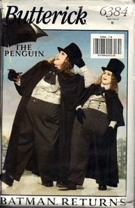 Butterick 6384 Size B Batman Penguin Costume Pattern UNCUT