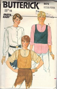 Butterick 6472 Blouse Top Pattern UNCUT