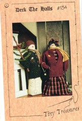 Deck The Halls Snow Couple Decoration Pattern New