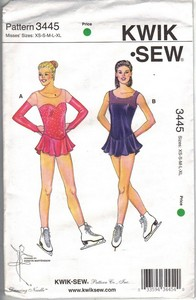 KWIK Sew 3445 Ice Skating Costume Pattern UNCUT