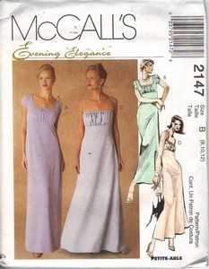 McCalls 2147 Evening Dress Sewing Pattern UNCT