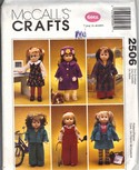 "McCalls 2506 18"" Gotz Doll Clothes Pattern UNCUT"