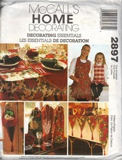 McCalls 2897 Holiday Decorations Pattern UNCUT