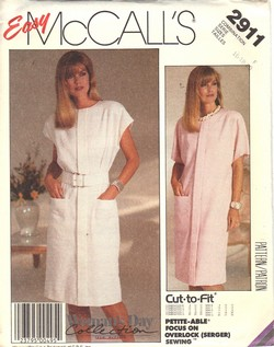 McCalls 2911 Size F Sheath Dress Pattern UNCUT