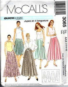 McCall's 3065 Full Skirt Pattern UNCUT