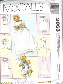 Baby Patterns - Simplicity Babies Christening Gowns Pattern