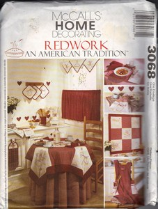 McCall's 3068 Redwork American Tradition Sewing Pattern