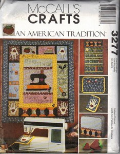 McCall's 3277 American Tradition Sewing Accessories Pattern