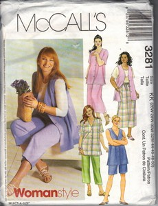 McCall's 3281 Plus Size Wardrobe Sewing Pattern UNCUT