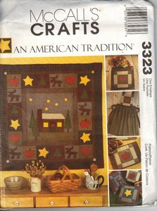 McCall's 3323 American Tradition Accessories Quilt Pattern UNCUT
