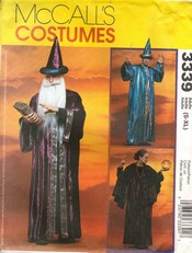McCalls 3339 Wizard Costume Sewing Pattern