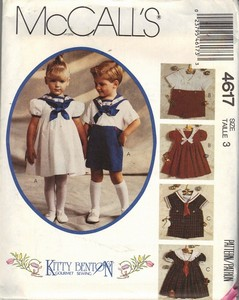 McCalls 4617 Size 4 Kitty Benton Sewing Pattern UNCUT